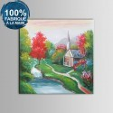 Peinture à l'Huile 100%  Peinte à la Main sur Canevas - Paysage Abstrait (DK-JX-YH051)