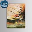 Peinture à l'Huile Abstraite 100% Peinte à la Main sur Canevas (DK-JX-YH09)