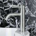Robinet de Lavabo&Vasque de Dessus de Comptoir - Simple Trou Simple Levier - Laiton Fini Chrome (5920)