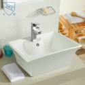 Lavabo-Vasque de Dessus de Comptoir en Céramique Blanche (DK-LSE-8014)