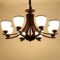 Lustre à 8 Lumières en Armature en Fer Forgé/Diamètre de 35 po - Style Classique (XDN-2219/8)