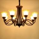 Lustre à 8 Lumières en Armature en Fer Forgé/Diamètre de 36 po - Style Classique (XDN-2220/8)