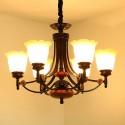 Lustre à 6 Lumières en Armature en Fer Forgé/Diamètre de 30 po - Style Classique (XDN-2210/6)