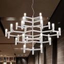 """Suspension LED Moderne en Verre et Métal/Largeur 44"""" avec 30 Lumières (9065/30)"""