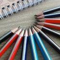 Crayon HB Triangulaire Multicolore, 2.0mm, Paquet de 12 (DK-PP1411)