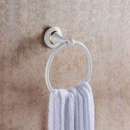 Anneau à Serviette - Laiton Peint Blanc (80360D)