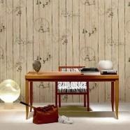 Papier Peint Imitation Lambris en PVC à Effet 3D pour Décorer le Mur Intérieur (57 sq.ft/Rouleau) (DK-SE451303)