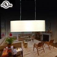 Lampe Suspendue Baril à 2 Lumières - Métal & Tissu Style Moderne (HYD61569-2)