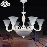 Lustre à 6+3 Lumières - Métal & Résine Style Classique/Diamètre de 32 po (CH0064-6-3)
