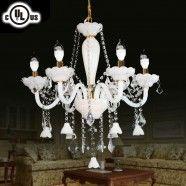 Lustre à 6 Lumières - Cristal Style Classique/Diamètre de 23 po (80106)