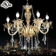 Lustre à 6 Lumières - Cristal Style Classique/Diamètre de 23 po (80116)