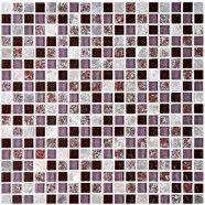 12 po x 12 po Carreau Mosaïque en mélange de Verre Craquelé et de Pierre en épaisseur de 8mm (AD801009)