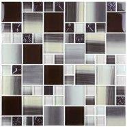 12 po x 12 po Carreau Mosaïque de Verre Électrolytique en épaisseur de 8mm (S0438A2)