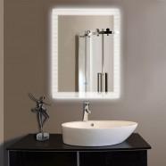 24 x 32 po Miroir Vertical Argenté LED Salle de Bains avec Interrupteur Tactile (DK-OD-N001)