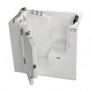52 x 30 po Baignoire pour mobilité réduite avec Porte - Acrylique Blanche avec Drain à Gauche (DK-Q358-L)