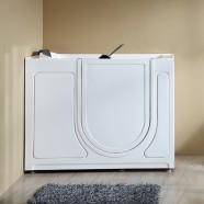 52 x 29 po Baignoire pour mobilité réduite avec Porte - Acrylique Blanche avec Drain à Droite (DK-Q372-R)