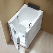 40 x 28 po Baignoire pour mobilité réduite avec Porte - Acrylique Blanche avec Drain à Gauche (DK-Q376-L)