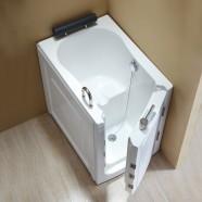 40 x 28 po Baignoire pour mobilité réduite avec Porte - Acrylique Blanche avec Drain à Droite (DK-Q376-R)