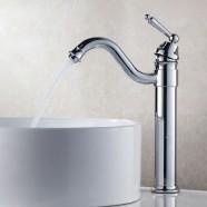 Robinet de Lavabo&Vasque - Simple Trou Simple Levier - Laiton Fini Chrome (81H26-CHR)