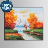 Peinture à l'Huile 100% Peinte à la Main sur Canevas - Paysage Abstrait (DK-JX-YH050)