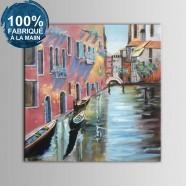 Peinture à l'Huile 100% Peinte à la Main sur Canevas - Paysage de Venise Abstrait (DK-JX-YH040)