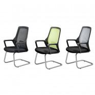 3 Couleurs/Chaise de Conférence Réticulaire Noire Dossier Mi-Hauteur (YH001B)