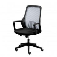 3 Couleurs/Chaise de Bureau Réticulaire Noire Dossier Mi-Hauteur (YZ001B)