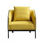 1 Place/Fauteuil Lounge ou Réception Visiteur en Tissus et Cuir Artificiel (SF-506-1)