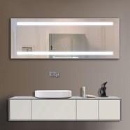 65 x 24 po Miroir LED Salle de Bain avec l'Interrupteur Tactile (DK-OD-C230)