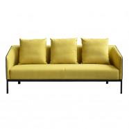 Canapé ou Sofa 3 Places en Tissu et Cuir Artificiel (SF-506-3)