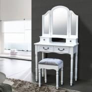 Coiffeuse avec Tabouret et Miroir (JI13009-1)