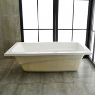 60 x 32 po Baignoire Encastrable Blanche en Acrylique de Salle de Bain (DK-K14581-ET)