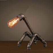 Lampe de Table Tuyau d'Eau Vintage en Fer (DK-6103-T1)