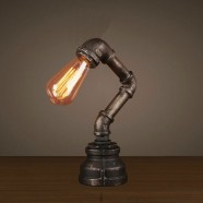 Lampe de Table Tuyau d'Eau Vintage en Fer (DK-6102-T1)