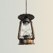 Suspension Rétro Vintage en Fer avec Abat-jour en Verre - Bronze (DK-5260-D1A)