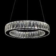 Suspension LED Moderne en Cristal et Acier Inoxydable à Télécommande (DK-LD1050-2)