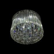 Lustre Plafonnier Moderne en Cristal et Acier Inoxydable (DK-LD2075)