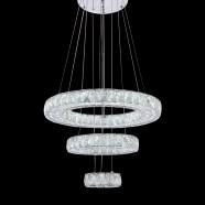 Suspension LED Moderne en Cristal et Acier Inoxydable à Télécommande (DK-LD1050B-3)