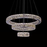 Suspension LED Moderne en Cristal et Acier Inoxydable à Télécommande (DK-LD8802-3)