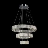 Suspension LED Moderne en Cristal et Acier Inoxydable à Télécommande (DK-LD0818)