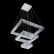 Suspension LED Moderne en Cristal et Acier Inoxydable à Télécommande (DK-LD6115-3)