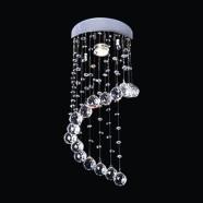 Lustre Plafonnier Moderne en Cristal et Acier Inoxydable (DK-LD05006-1)