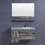 36 po Meuble Salle de Bain à Lavabo Somple avec Miroir (DK-TH9030)