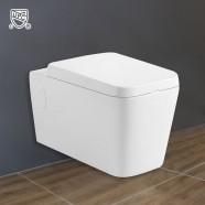 Cuvette de Toilette Murale/Suspendue au Mur - Blanc (DK-ZBQ-11002A)
