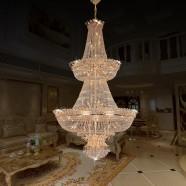 Lustre Montgolfière Cristal pour Hôtel - 66 Lumières (HY02SJD026A)
