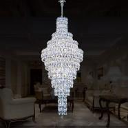 Lustre Plafonnier en Cristal pour Hôtel - 36 Lumières (HY02SJD028A)