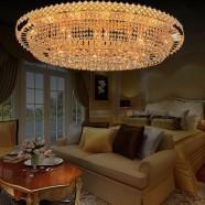 Plafonnier Cristal pour Hôtel - 24 Lumières (HY02SJX041B)