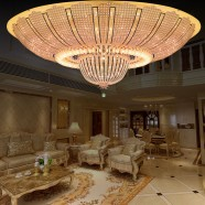 24-Light Large Gold Crystal Ceiling Light (HY02SJX043B)