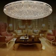 Plafonnier Cristal pour Hôtel - 32 Lumières (HY02SJX041A)