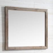 42 x 36 po Miroir pour Vanité avec Cadre en Bois de Sapin (DK-WH9342-SW)